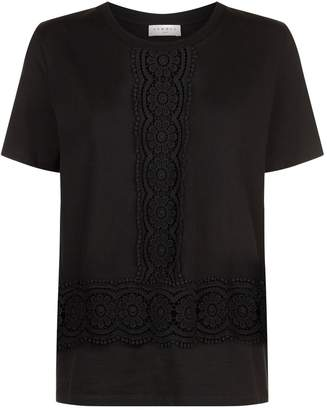 Sandro Lace Trim T-Shirt