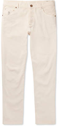 Brunello Cucinelli Slim-Fit Stretch-Denim Jeans - Cream