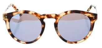 Illesteva Tortoiseshell Mirrored Sunglasses