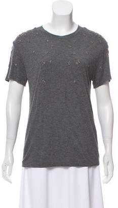 The Kooples Short Sleeve Scoop Neck T-Shirt
