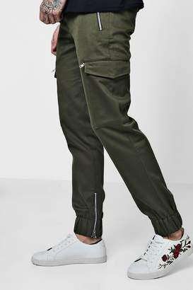 boohoo Woven Jogger Style Cargo Trousers