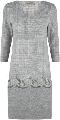 D-Exterior D.Exterior Knitted Micro-Check Dress