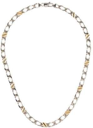 Tiffany & Co. Two-Tone Curb Chain Necklace