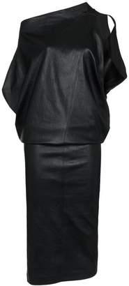 Poiret Leather Midi-Dress