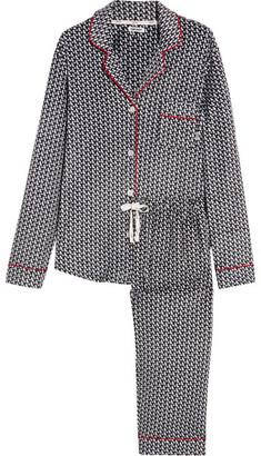 DKNY - Printed Velour Pajama Set - Black $55 thestylecure.com