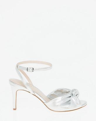 Le Château Metallic Faux Leather Ankle Strap Sandal