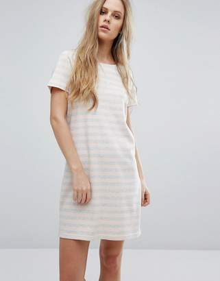 Vila Scoop Neck Striped Dress