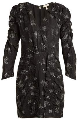 Rebecca Taylor V-neck ruffle silk dress