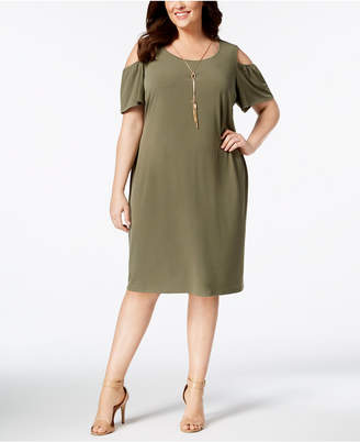 JM Collection Petite-Plus Size Cold-Shoulder Dress