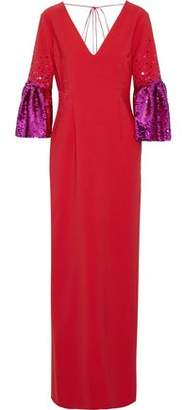 Sachin + Babi Byzas Sequin-Embellished Cady Gown
