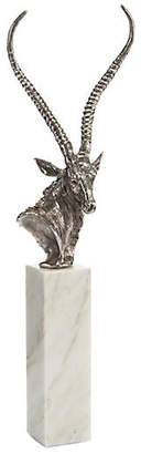 "John-Richard Collection 30"" Grant's Gazelle Sculpture - Antiqued Nickel"