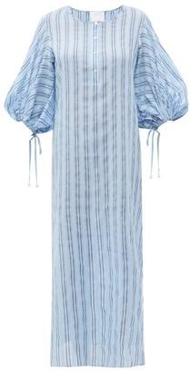 Binetti Love Stir It Up Striped Cotton Dress - Womens - Blue Multi