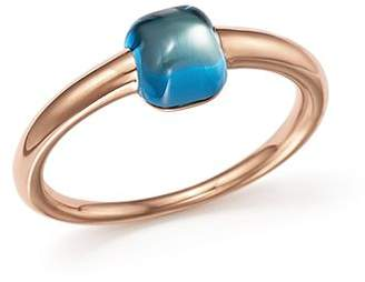 Pomellato M'Ama Non M'Ama Ring with London Blue Topaz in 18K Rose Gold