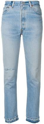 RE/DONE high rise cropped jeans