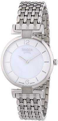 Mother of Pearl Boccia Women's Quartz Watch with Dial Analogue Display and Silver Titanium Bracelet B3238-03