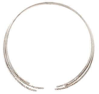 David Yurman Diamond Willow Collar Necklace silver Diamond Willow Collar Necklace