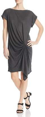 Kenneth Cole Draped Linen T-Shirt Dress