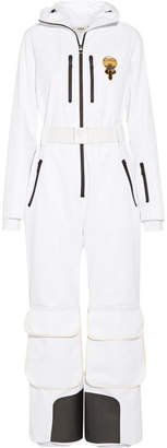 Fendi Karlito Embellished Ski Suit - White