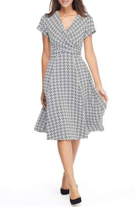 Gal Meets Glam Carson Variegated Gingham Bow Back Dress