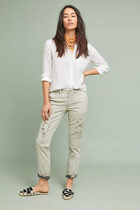 Anthropologie Chino by Relaxed Patched Chino Pants