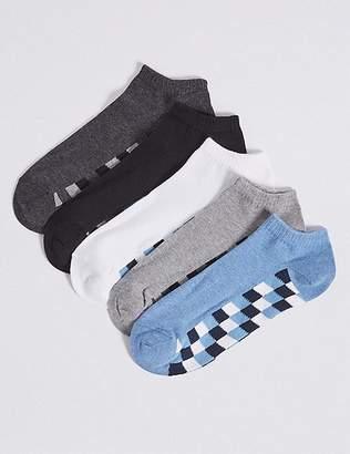 Marks and Spencer 5 Pack Cotton Rich Trainer Liner Socks