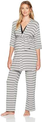 Everly Grey Women's Maternity Roxanne Nursing 5-Piece Pj Set for Mom and Baby