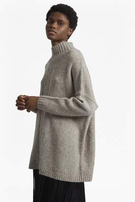 French Connection Ora Cable Knit Long Sleeved High Neck Jumper