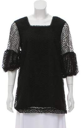 Anna Sui Lace Square Neck Top