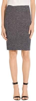 St. John Chevron Knit Pencil Skirt