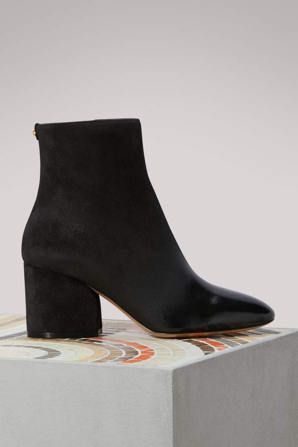 Salvatore Ferragamo Pisa leather ankle boots