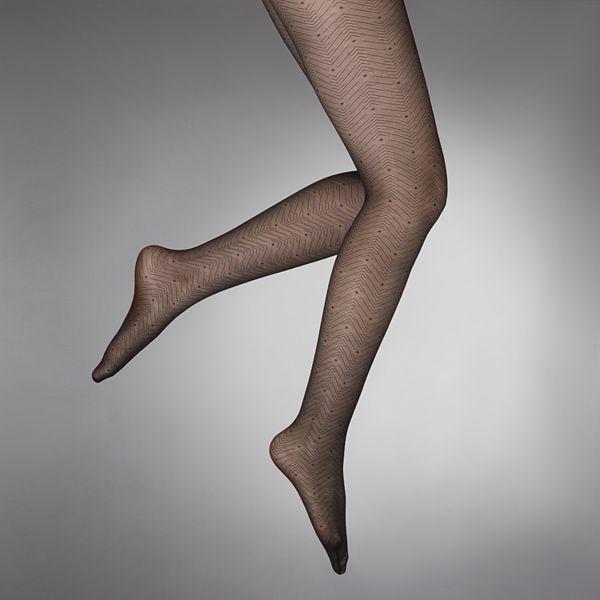 Vera Wang Simply vera zigzag dot control-top tights