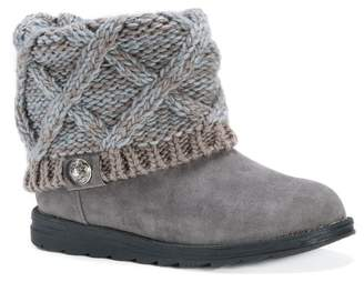 Muk Luks Patti Knit Shaft Faux Fur Lined Boot