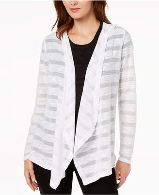INC International Concepts I.n.c. Illusion-Stripe Cardigan, Created for Macy's