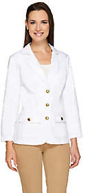 Joan Rivers Classics Collection Joan Rivers Denim Blazer withBracelet Sleeve