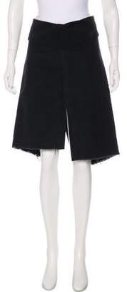 Martin Grant Distressed Knee-Length Skirt