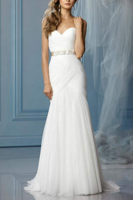 Watters Strapless English Wedding Dress