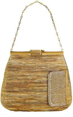 Intermix Bienen Davis 4AM Lurex Gold Chain Clutch Bag