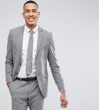 Heart & Dagger TALL Skinny Suit Jacket In Herringbone Tweed