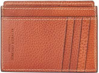 Brunello Cucinelli Leather Vertical Card Holder