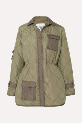 Ganni Quilted Shell Jacket - Green