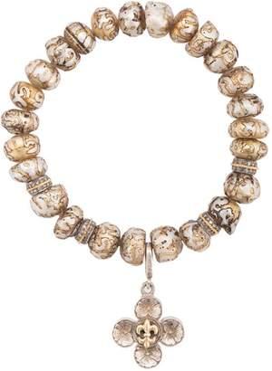 Loree Rodkin floral charm bracelet