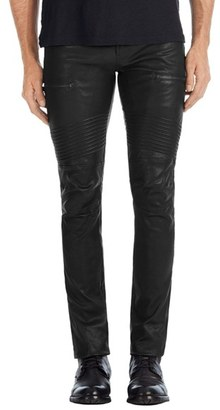 Men's J Brand Acrux Skinny Fit Moto Leather Pants $1,198 thestylecure.com