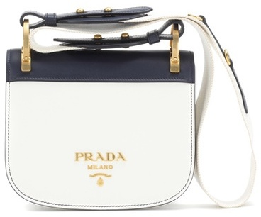 prada Prada Pionnière Leather Shoulder Bag