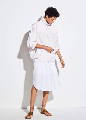 Wide Hem Cotton Skirt