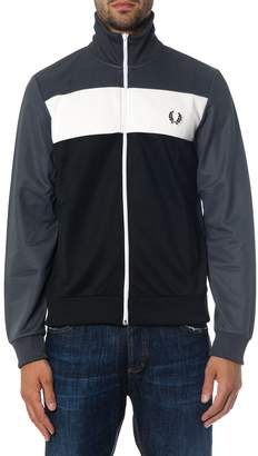 Fred Perry Zipped Cotton Sweatshirt