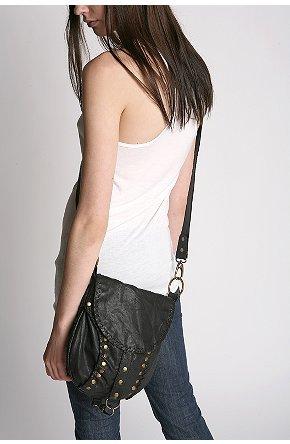 Leather Studded Crossbody Bag