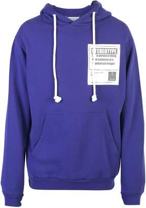 Maison Margiela Blue Front Patch Sweatshirt