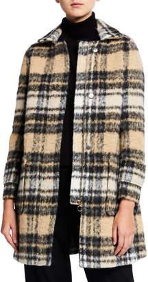 Twin-Set Twinset Wool-Blend Plaid Coat