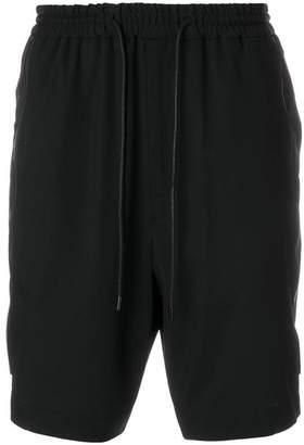 Juun.J side zip track shorts