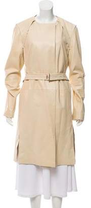 Reed Krakoff Belted Leather Coat